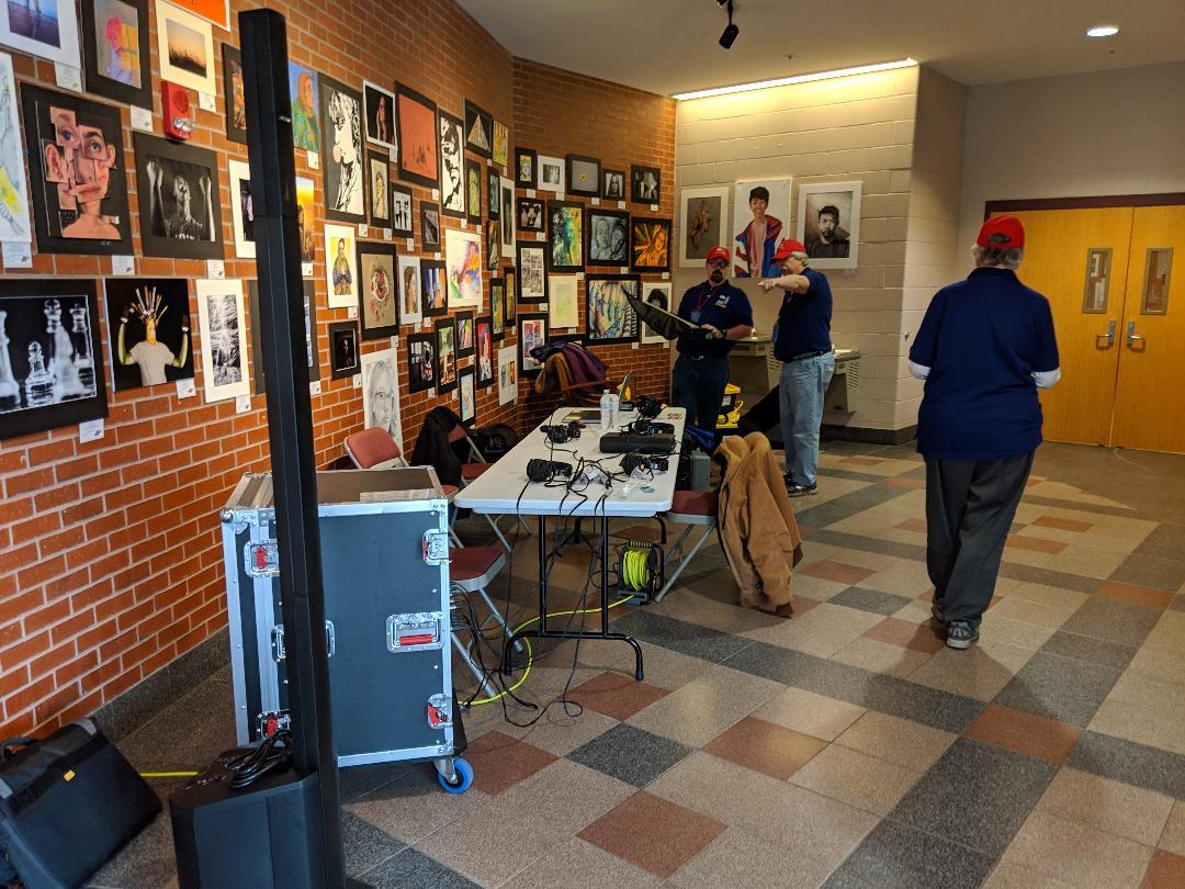setting up at Pinkerton for NHGOP meeting