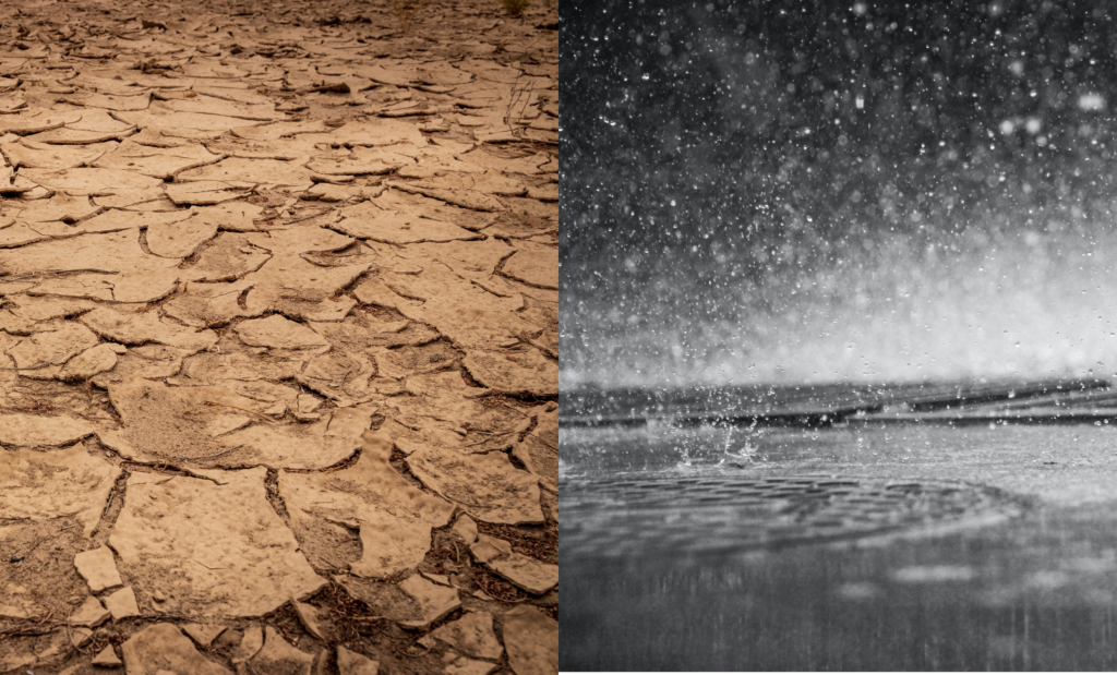 Drought and rain