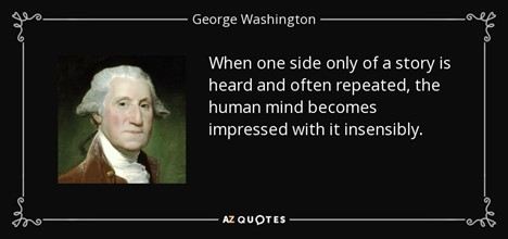 GEorge Washington insenible human mind