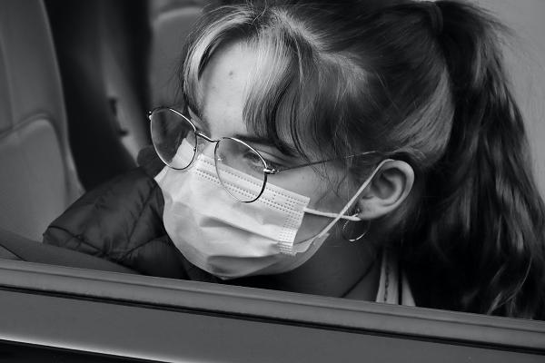 Girl glasses mask