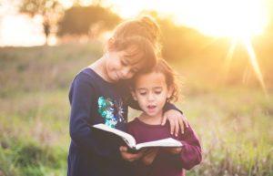 Girls book reading study education
