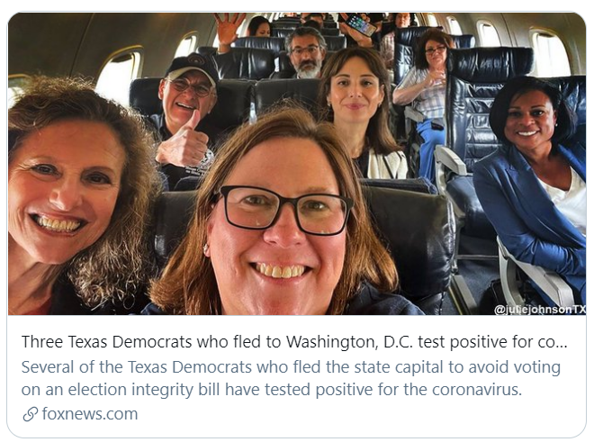 Maskless Vaccinated Dems on Flight to DC - Fox News Screen grab