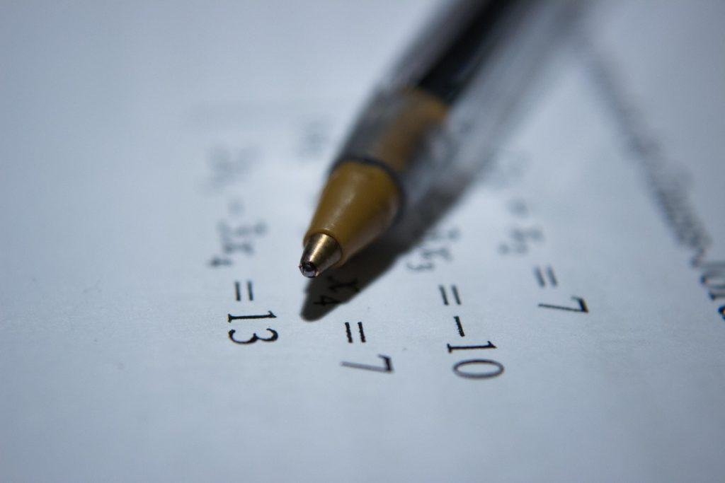 Math ball point pen