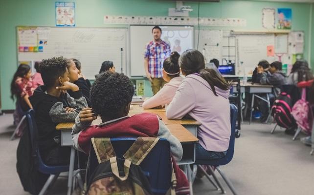 Students teacher classroom