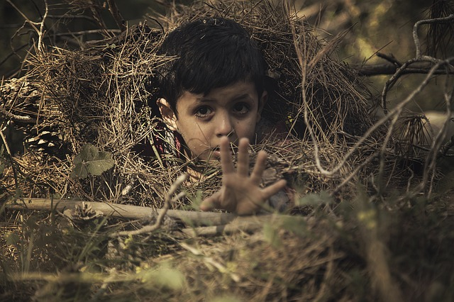 child-buried hiding reaching Image by ibrahim abed from Pixabay