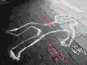 crime-scene body outline