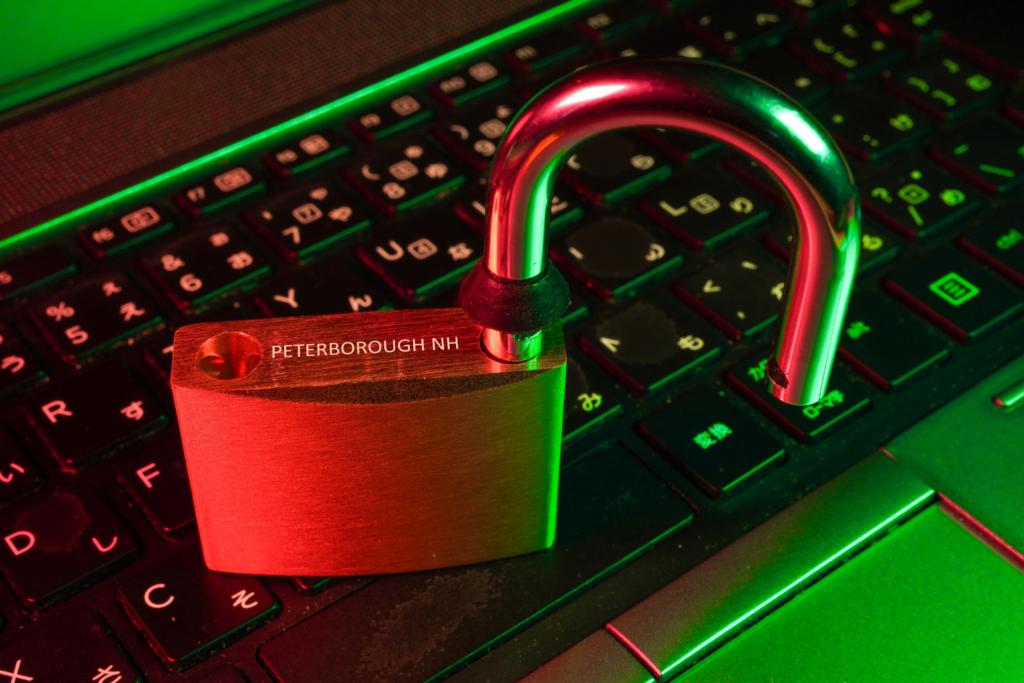 Cyber crime ulocked laptop peterborough NH