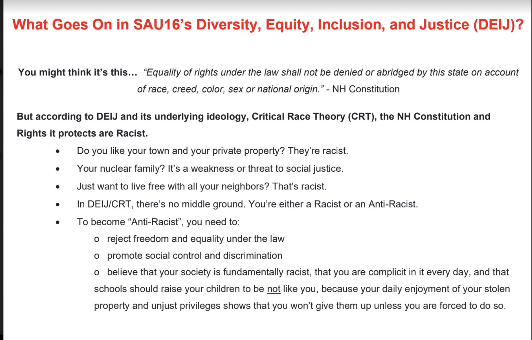 SAU 16 Diversity, equity, and inclusion