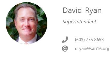 Superintendent David Ryan SAU16 2