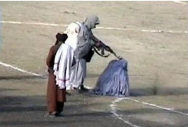 The US Sun Afghani woman shot on soccer field by Taliban