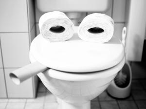toilet face flush