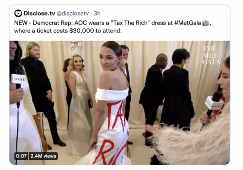 Sandy Cortez (AOC) Shows Off Her 'Tax the Rich Dress' at ...