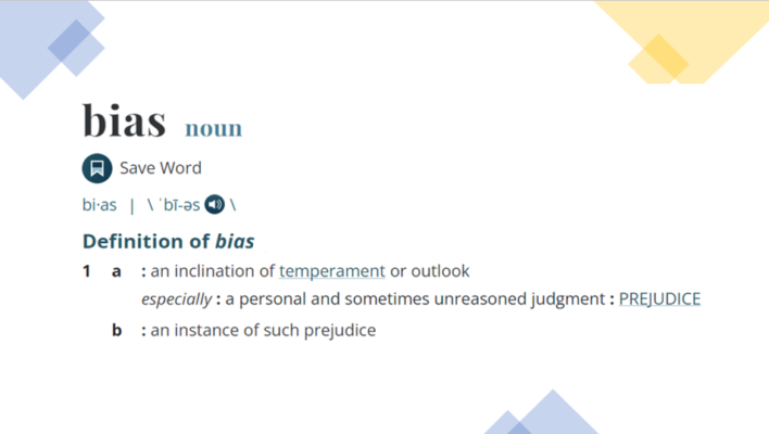 Bias -Definition