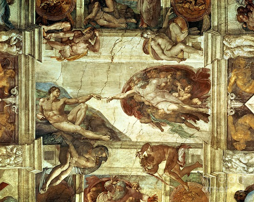 God creating Adam Sistine Chapel Fine Art America