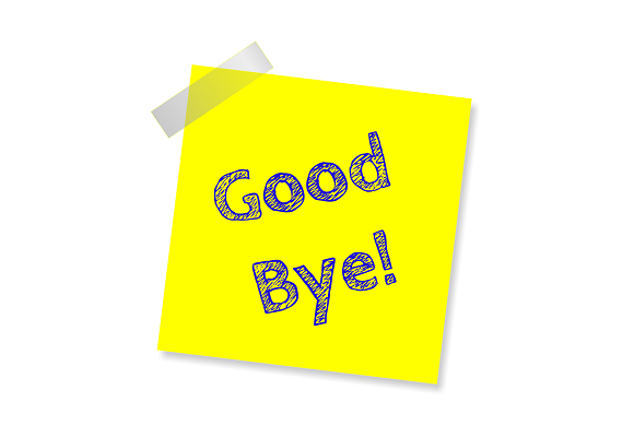 Good Bye Image by S K from Pixabay