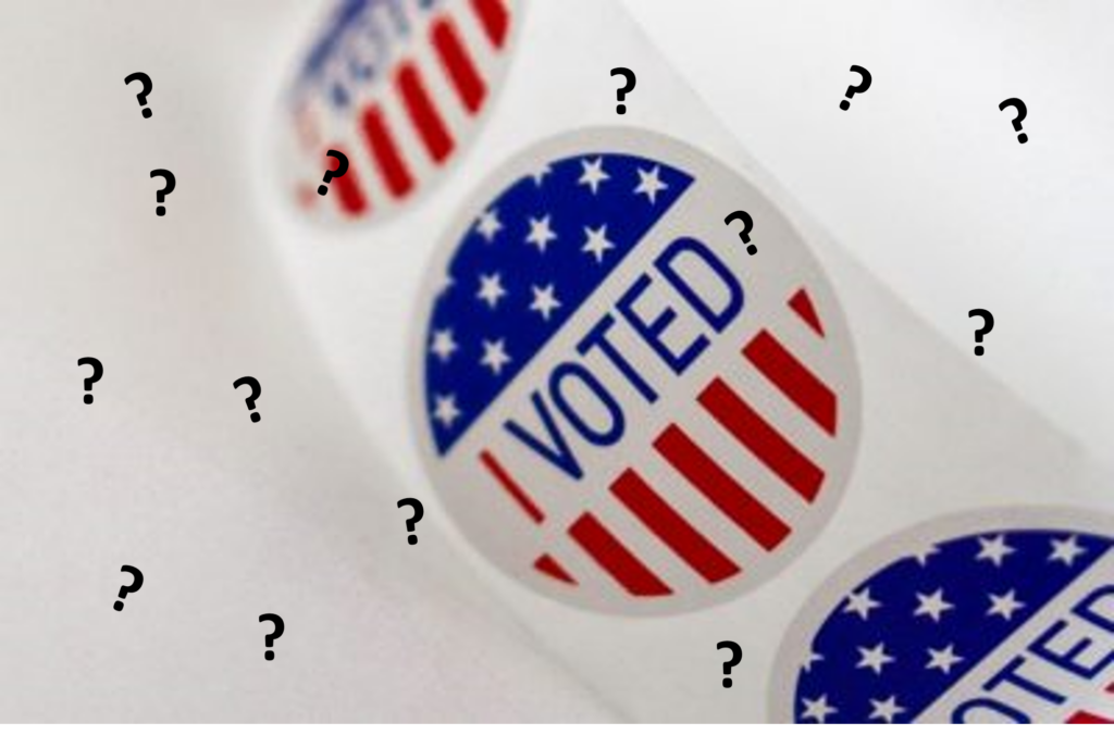I voted sticker question marks
