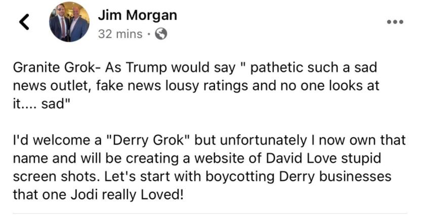 Jim Morgan - Buy Derry Grok.