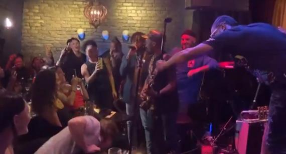 Mayor of San Fran maskless dancing an indoor concert