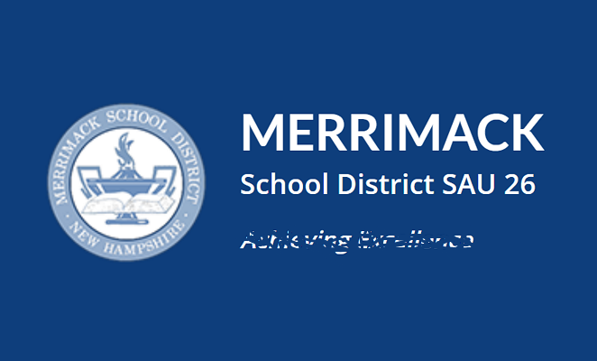 Merrimack School DIstrict web site screen grab altered