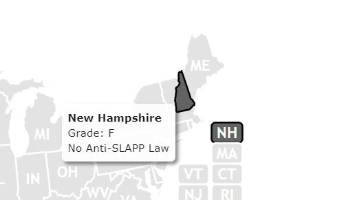 NH has no Anti-slapp law