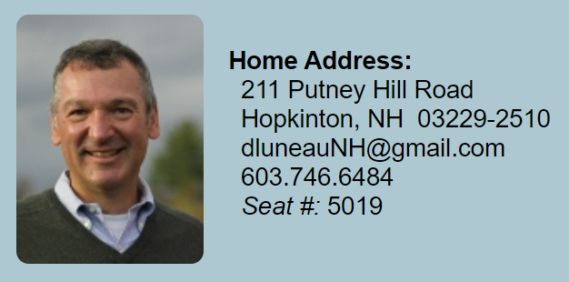 NH Democrat David Luneau (D) Merrimack Dist 10 - Screen Grab NH House Website