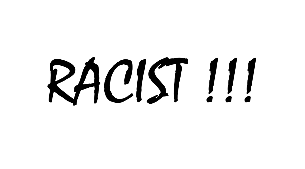 Racist White Background