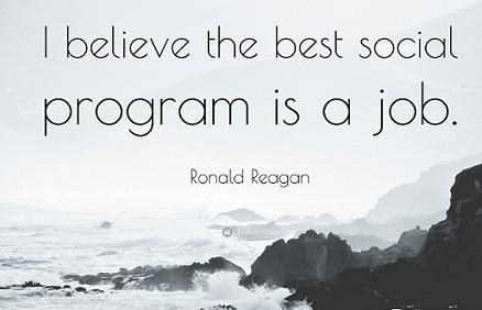 Ronald Reagan Best Social Program is a Job Quotefancy-69125-3840x2160