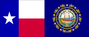 Texas New Hampshire Flags