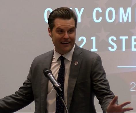 US Congressman Matt Gaetz