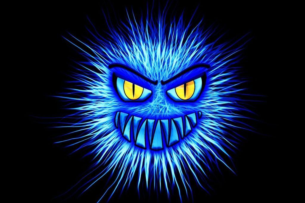 blue monster - virus