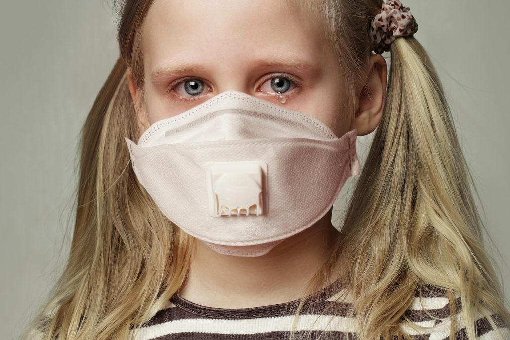 Crying Masked Child
