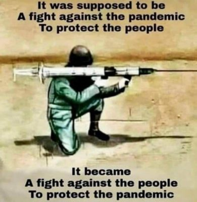 Fight the pandemic or the people