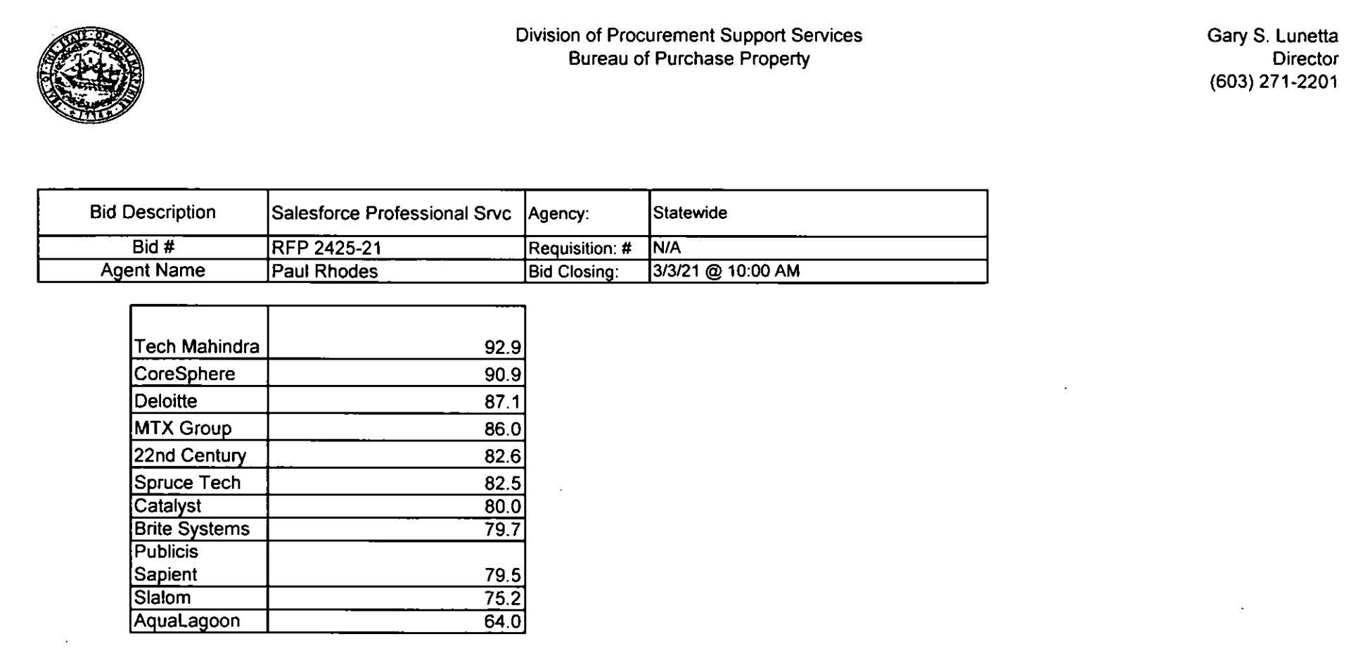 Division of Procurement Image NH