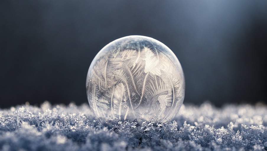 Ice frozen bubble Photo by Aaron Burden on Unsplash