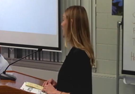 Jaima Wilder at Hollis Brookline School Board Meeting