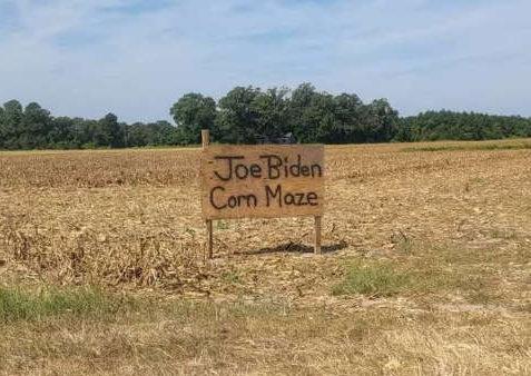 Joe Biden Corn Maze - Image Credit Reddit