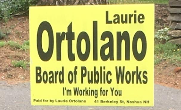Laurie Ortolano campaign sign