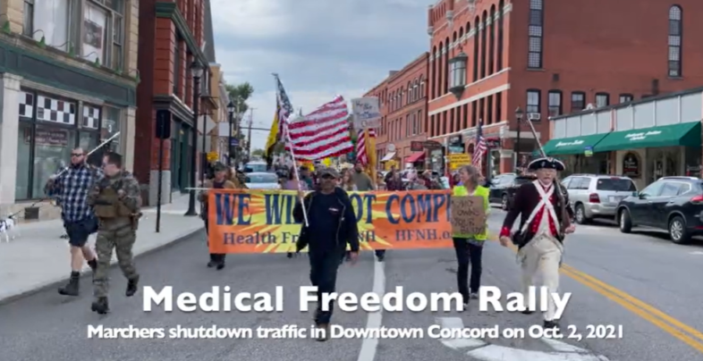 Medical Freedom March Oct 2 2021 Concord NH