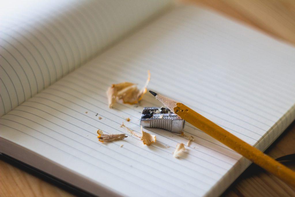 notebook pencil sharpener shavings